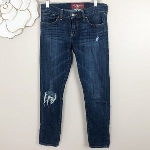Lucky brand distressed Sienna cigarette jeans